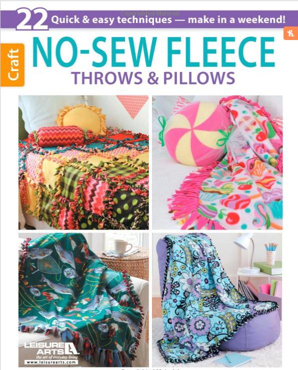 No-Sew Fleece Throws & Pillows