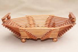 Popsicle stick craft bowl