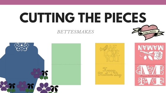 Best Ever Mother's Day Card - cutting the pieces