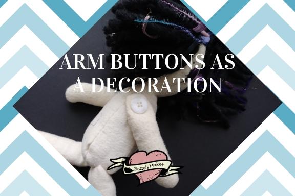 Arm Button as DIY Rag Doll Decoration
