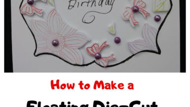How to make a floating die-cut handmade card