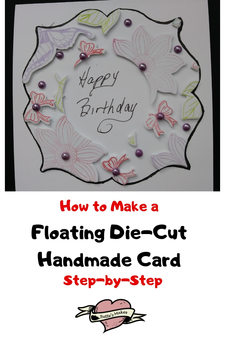 Floating Die-Cut Handmade Cards