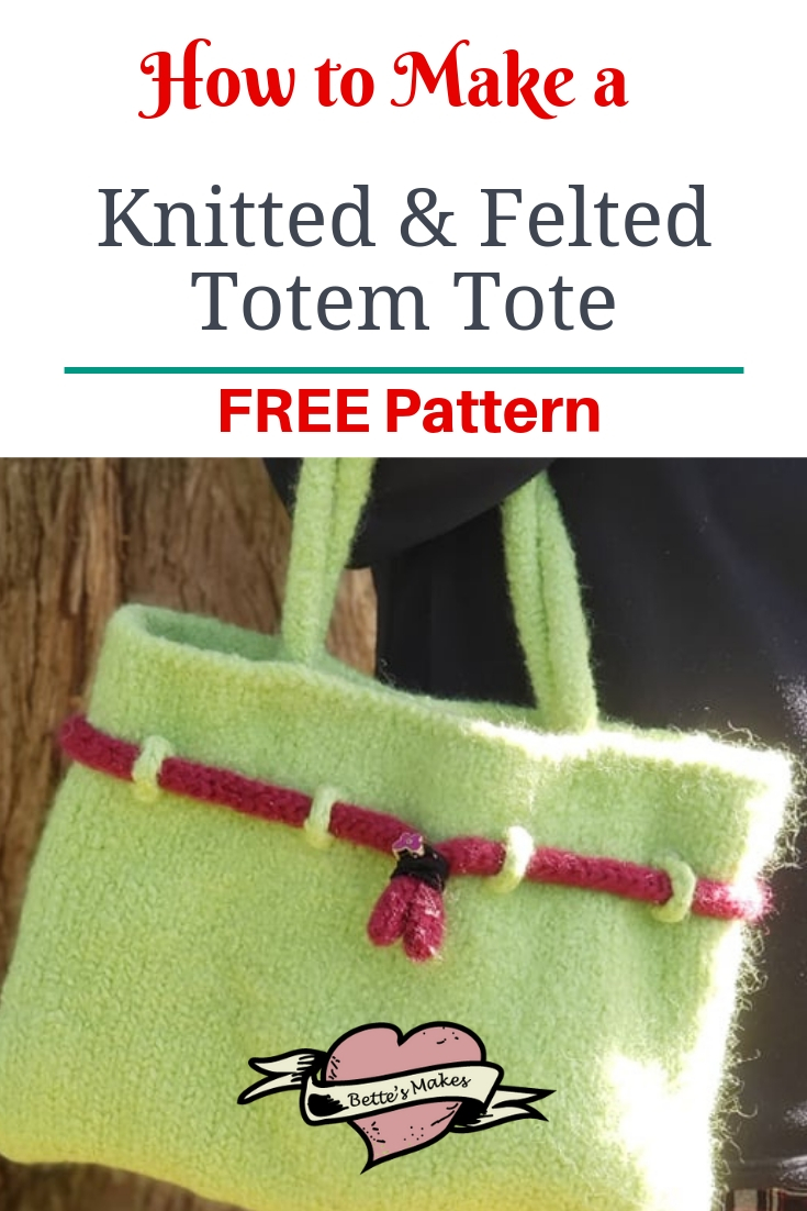 DIY Knitted and Felted Totem Tote