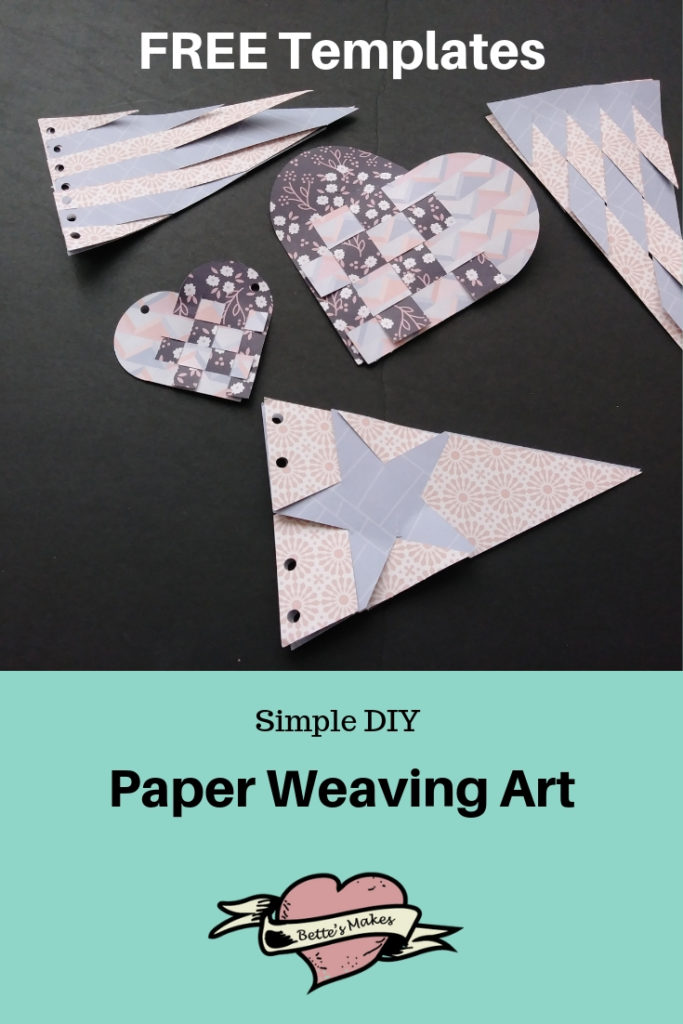 Simple DIY Paper Weaving Art
