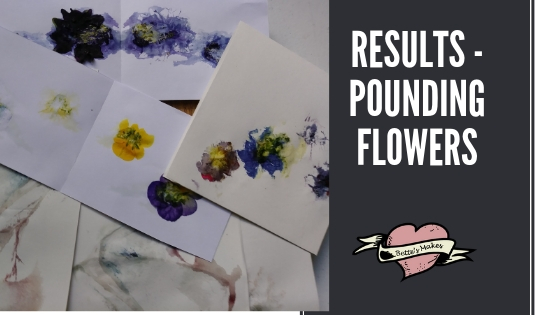 Varied results from Pounding Flowers