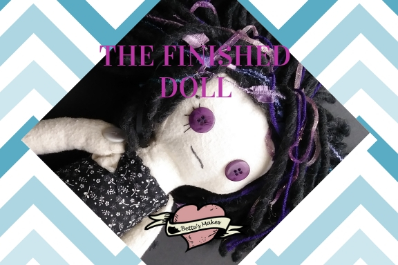 The finished DIY Rag Doll