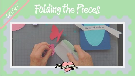 Cricut cutting project - folding the pieces - BettesMakes.com