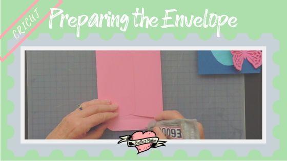 Cricut project - preparing the envelopes - BettesMakes.com