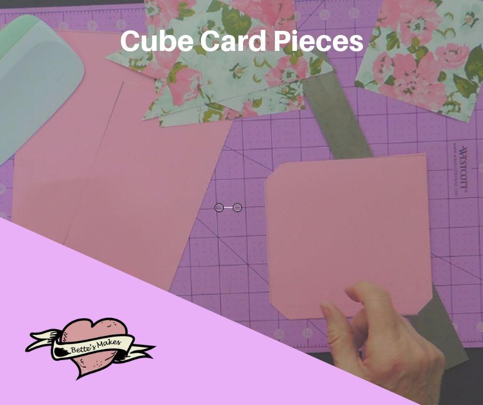 Handmade Card: Cube Card Pieces - BettesMakes.com