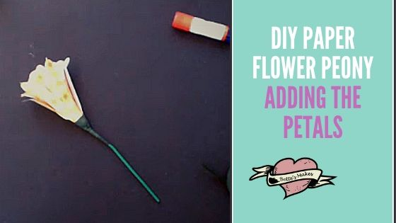 DIY Paper Flower Peony - Adding the Petals - Bettesmakes