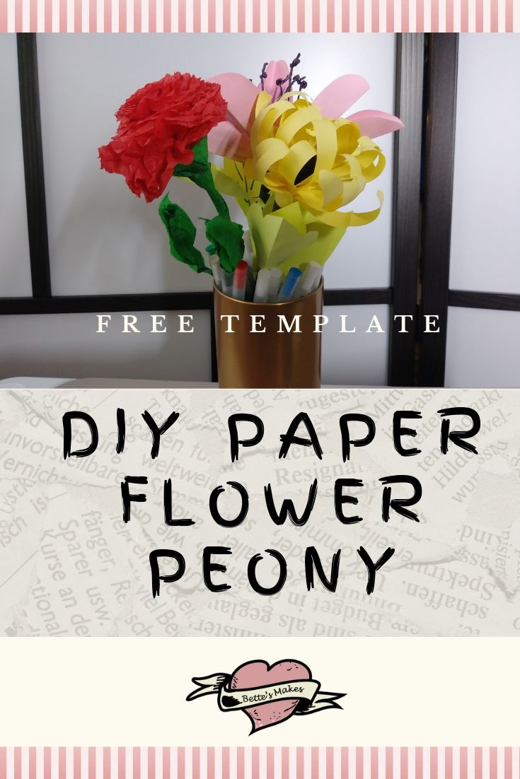 Paper Flowers DIY – Simple & Easy to Make Peony