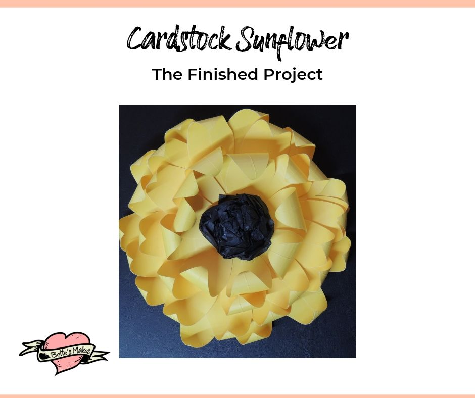 Cardstock Sunflower - The Finished Project
