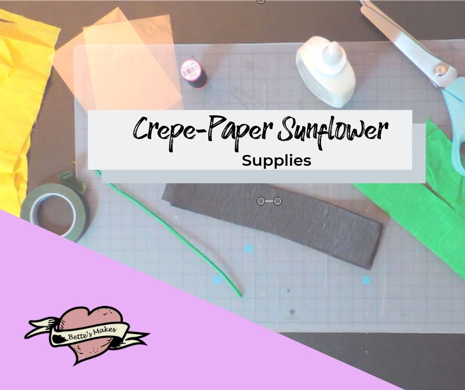Crepe-Paper Sunflower Supplies - BettesMakes.com