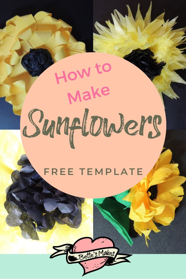 Making sunflowers - BettesMakes