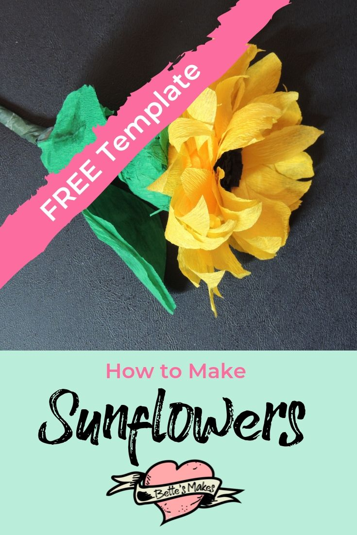 How to Make sunflowers - BettesMakes.com