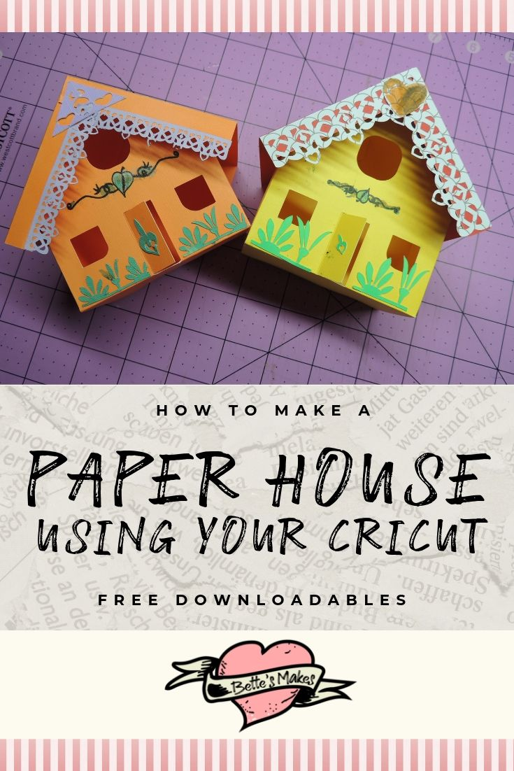 How to make a paper house using your Cricut - BettesMakes.com