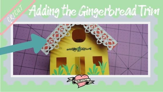 Simple Paper House - Adding the Gingerbread Trim - BettesMakes.com