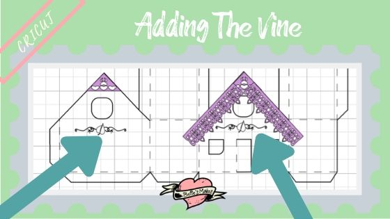 Simple Paper House - Adding the Vine Trim - BettesMakes.com