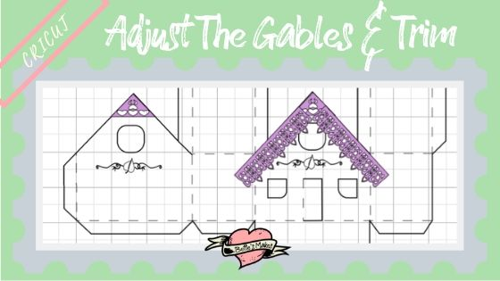 Simple Paper House - Adjusting the Gables and Gingerbread Trim - BettesMakes.com