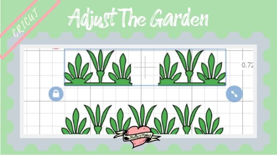 Adjust the size and color of the Garden for a Simple Paper House - BettesMakes.com