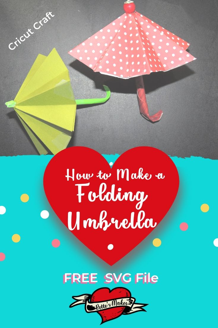How to make folding umbrellas using your Cricut! This Cricut project is so fun to make and all you need to do is upload the free template to get started. #Cricut #circutprojects #papercraft #craft