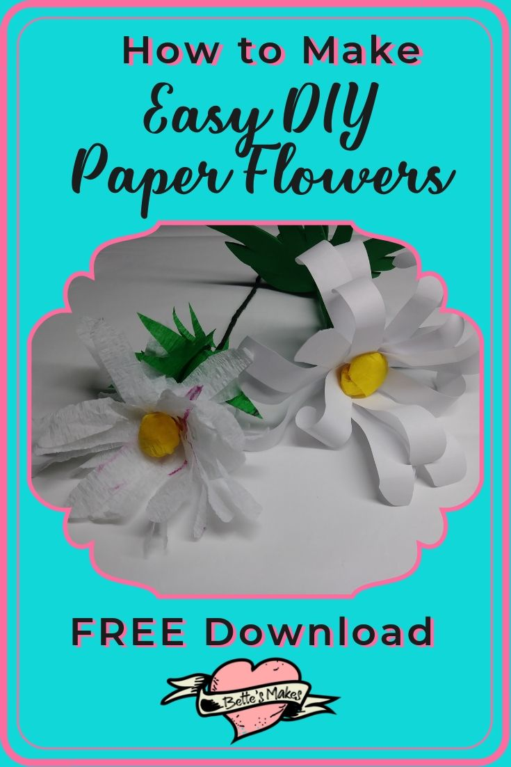 How to Make Easy DIY Paper Flowers - BettesMakes.com