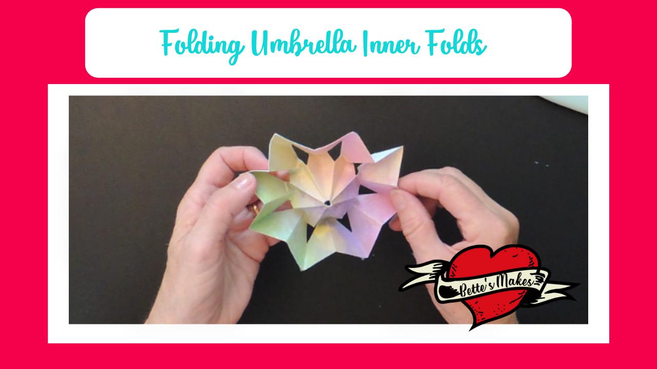 Folding Umbrella - Inner Folds - BettesMakes.com