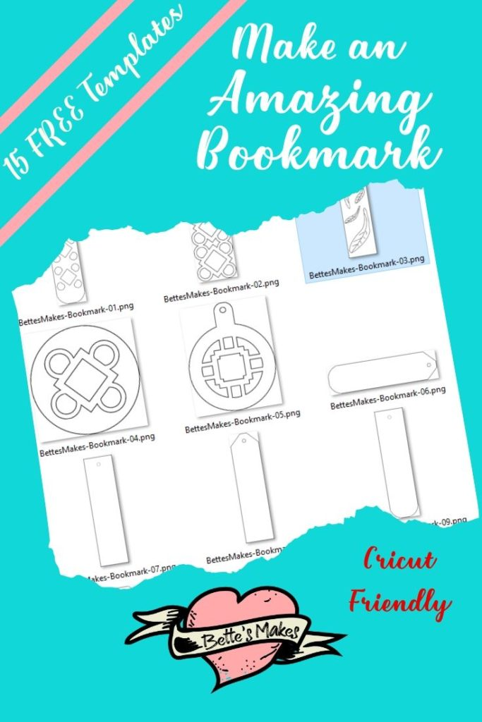 How to make amazing booksmarks by hand or with your Cricut - BettesMakes.com