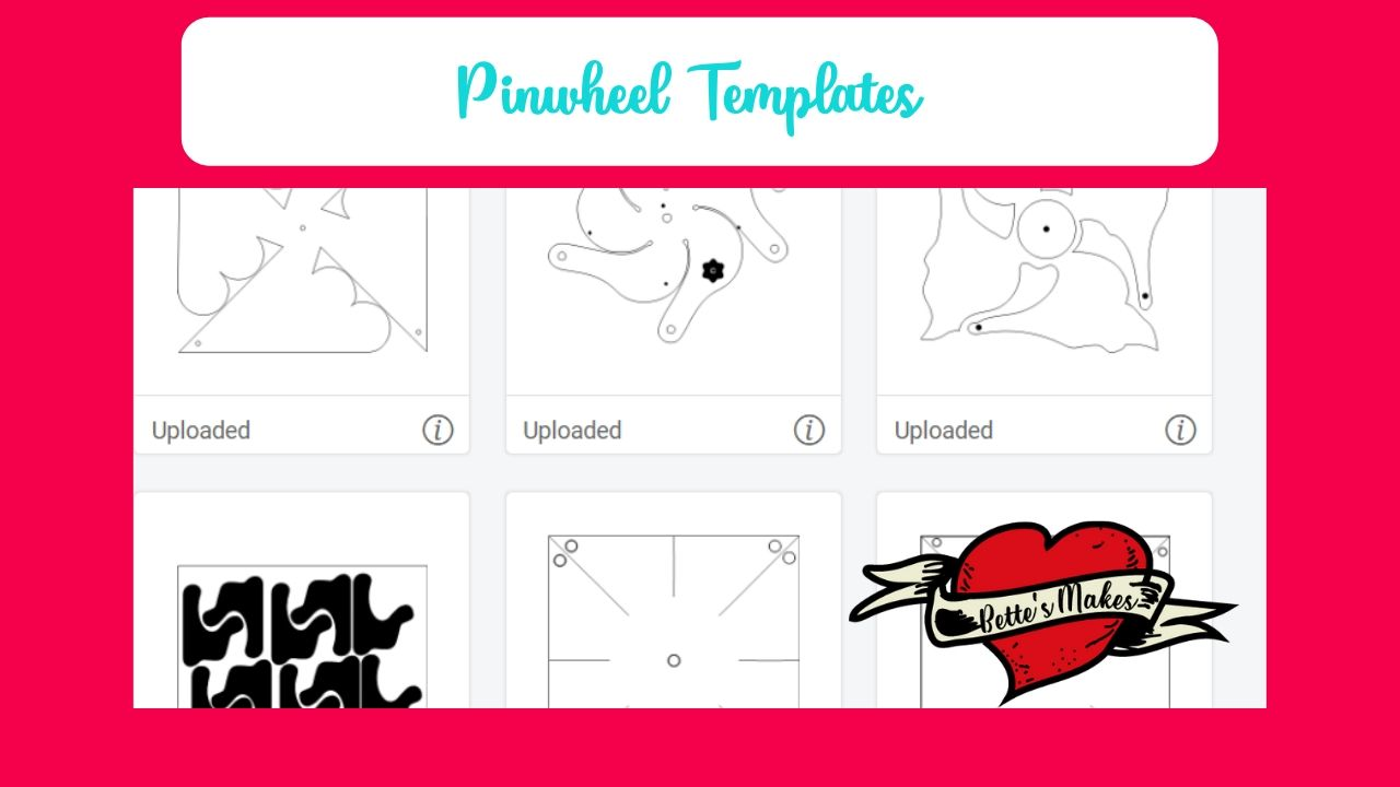Templates for making spinning pinwheels - bettesmakes.com