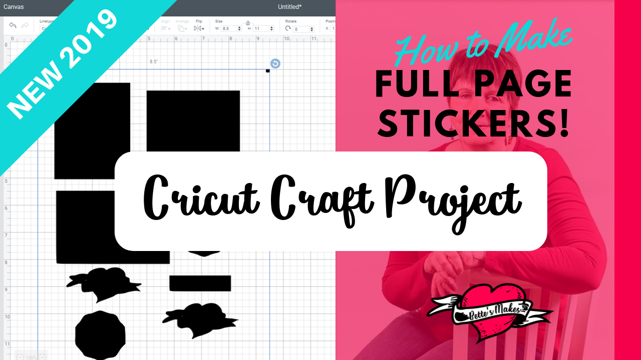 Stickers: Using Your Cricut for Full Page Cutting
