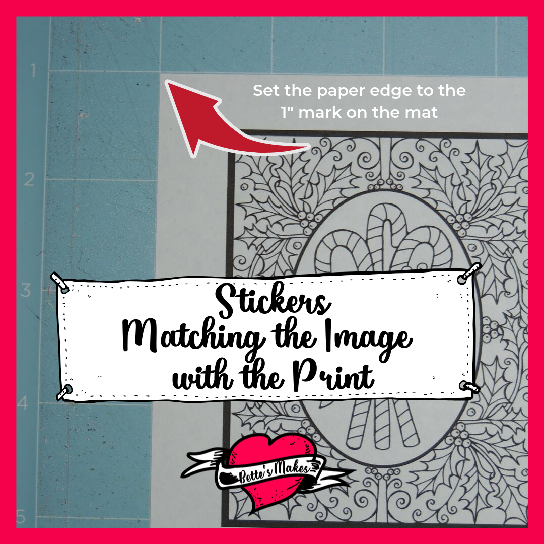 STickers - it is important to set the paper edge at the 1