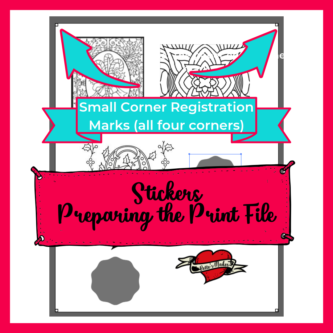 STickers - Preparing the Print file for a full sheet of printable stickers. BettesMakes.com #Cricut #stickers