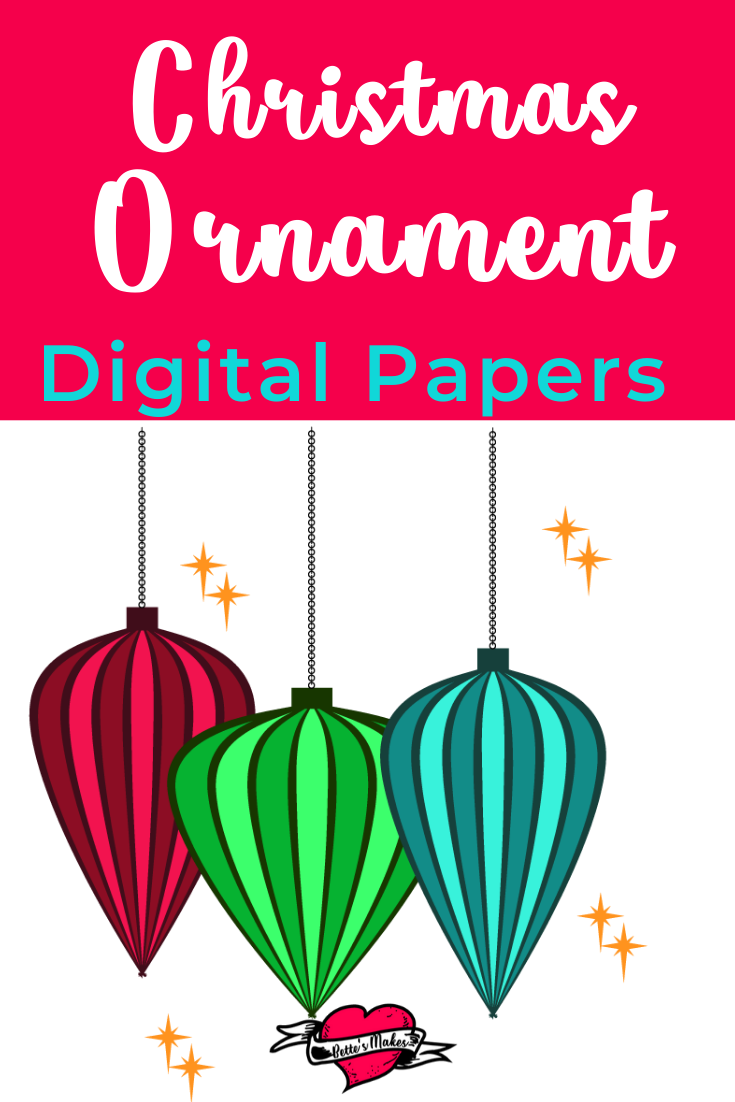 Christmas Ornament Design File 01 - the first in a series of FREE digital downloads from BettesMakes.com #papercraft #digitalpaper #cricut