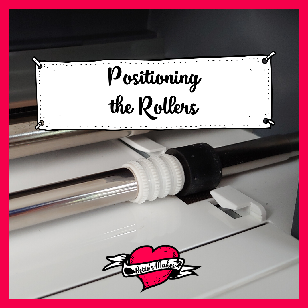 Cricut Craft - Positioning of the Rollers for engraving. #Cricutcraft #cricut