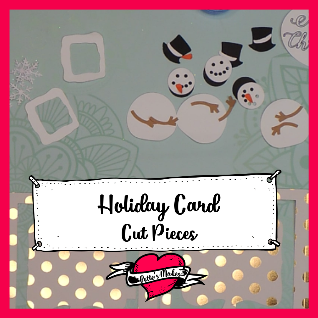 Holiday Card - Cut Pieces