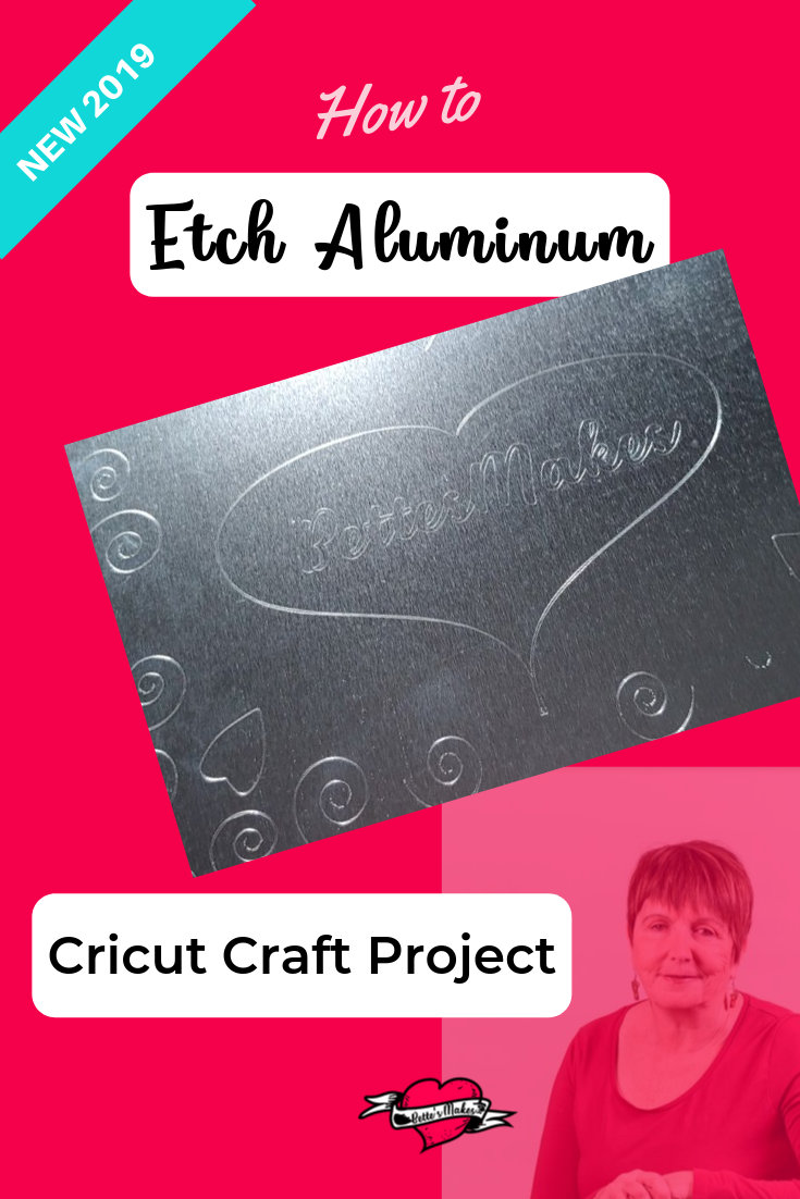 Cricut Craft: How to Etch (Engrave) Aluminum is an easy project when you use your Cricut Maker! Just change out the scoring tool for the engraving tip and you are set! Free Video and Tutorial! #cricutcraft #cricutidea #cricutproject #cricutmaker #engravingtool #etch