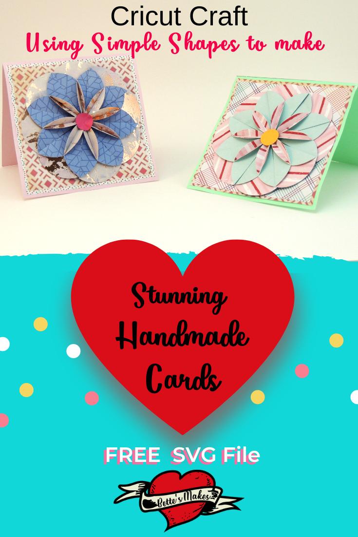 Handmade Cards - How to Make a Stunning handmade card using your Cricut or scissors! Imagine having this card on your table to show the world how talented your are! #cricut #handmadecard #card #papercarft #cricutidea #cricutcraft #cricutproject