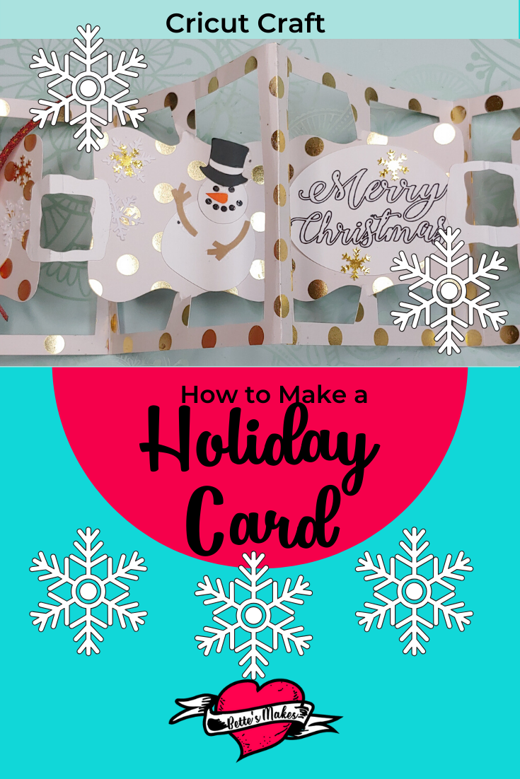 The perfect holdiay card you can make with your Cricut! Easy once you follow our video and tutorial. Fun for all ages! #Cricut #cricutproject #cricutcraft #papercarft #cardmaking
