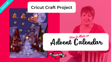 How to Make An Advent Calendar using your Cricut Maker Perf Tool. You will have lots of fun personalizing these calendars! Perfect papercraft fun! #Cricut #cricutproject #cricutperf #papercraft