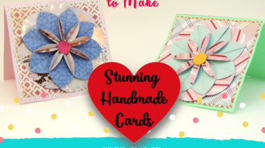 Make these amazing handmade cards using simple shapes. Perfect for showing off your card-making talent! #handmadecard #card #cricut #cricutproject #cricutcraft #papercraft