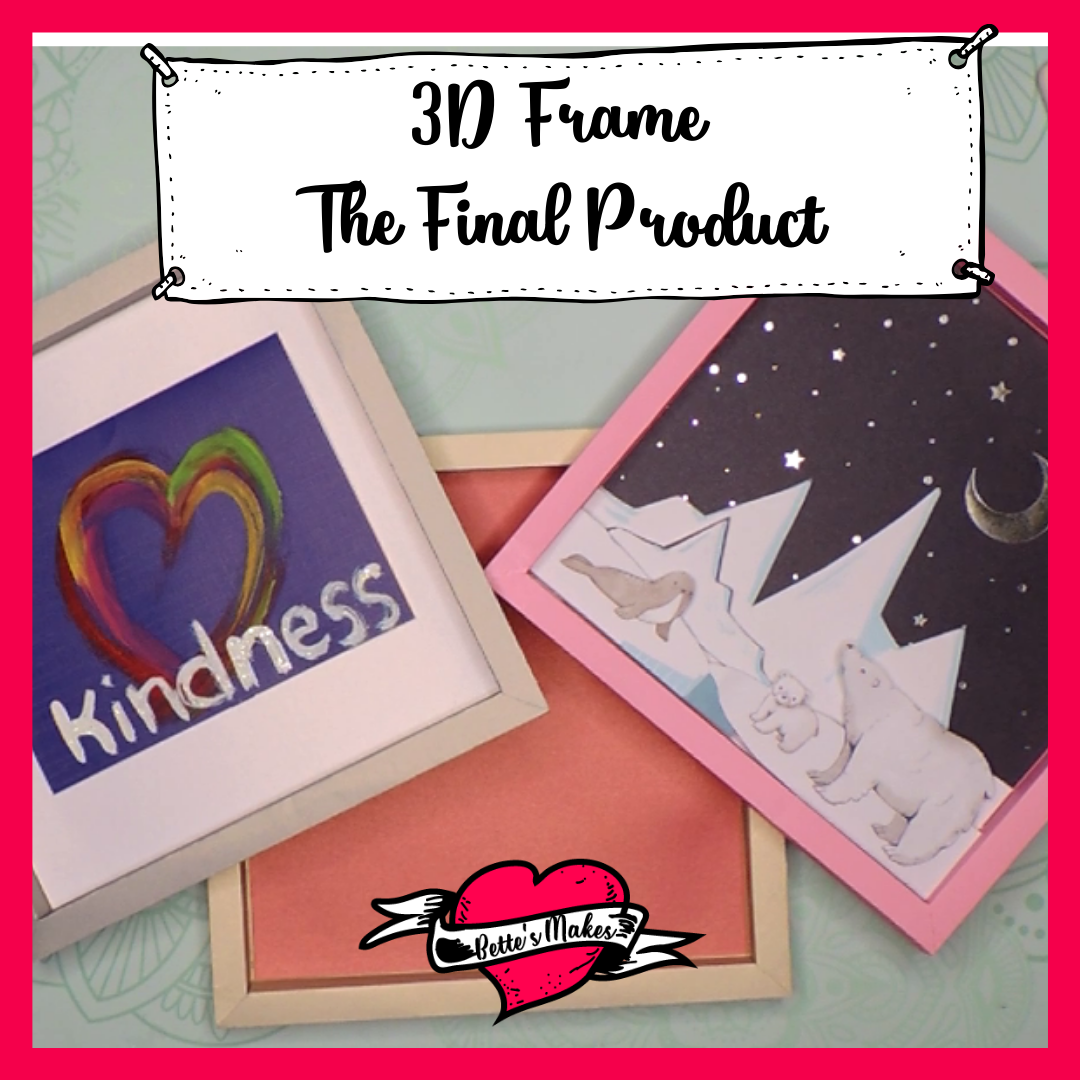 3D Frame: Using Your Cricut and Cardstock