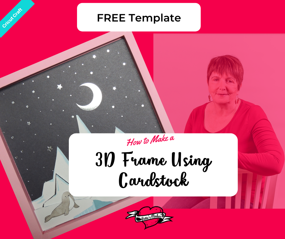 Get this FREE template for making your own 3D Frame - great for making gorgeous 3D images for display. Perfect for DIY Home Decor and more. #Papercraft #DIYHomeDecor #CricutCraft #Cricut