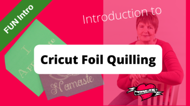 Foil Quilling is the perfect way to make your DIY projects stand out! #Cricut #foilquill #papercraft #cardshandmade #wermemorykeepers