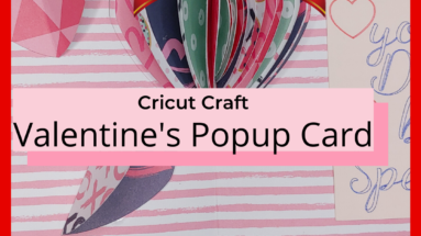Cricut craft, handmade card for Valentine's Day - the perfect card you can make with this free tutorial and template. #cricut #cricutcraft #cardshandmade #papercraft