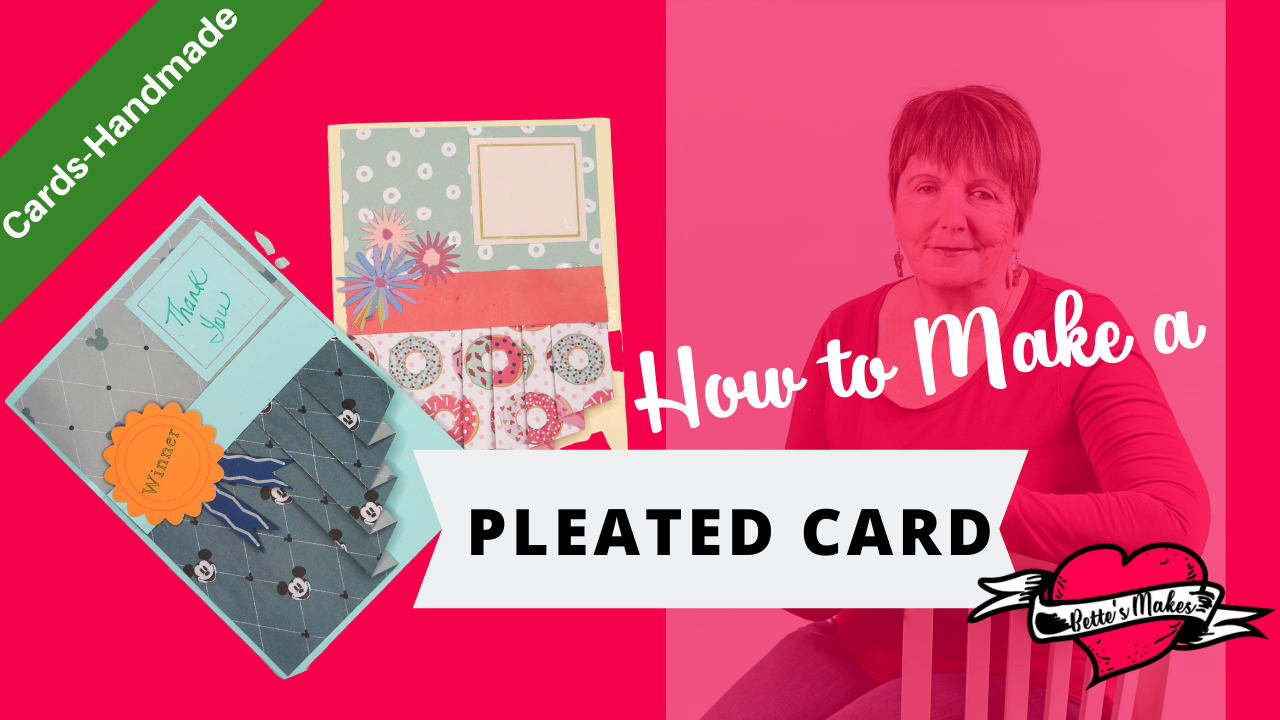 How to Make a Cute Handmade Pleated Birthday Card