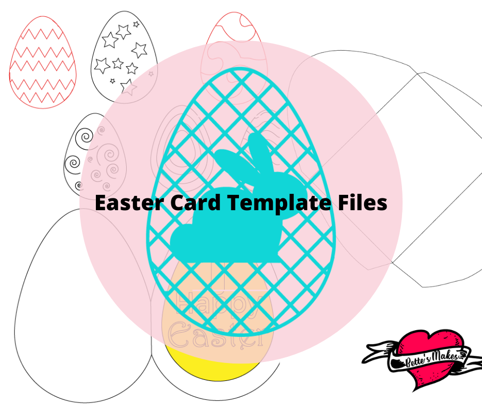 Easter Card Template Files from BettesMakes