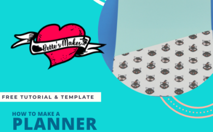 Making your own dividers and planner pouches could not be easier. This tutorial and template are free to use. #Cricut #planner
