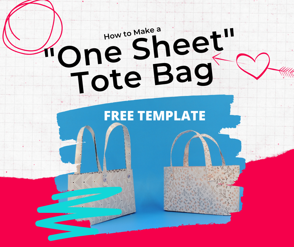 How to Make a One Sheet Tote Bag (Papercraft)