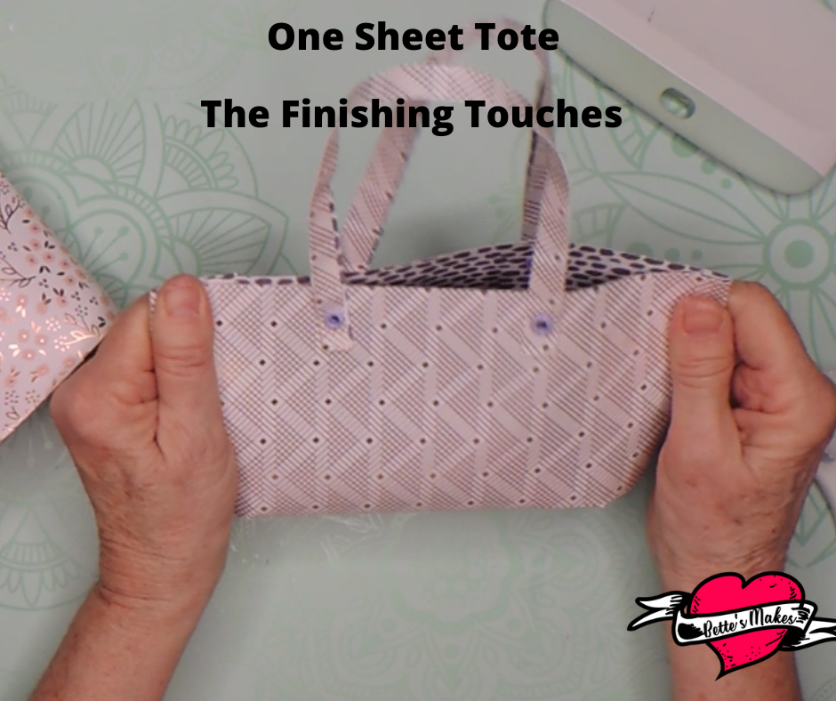 One Sheet Tote Finishing Touches