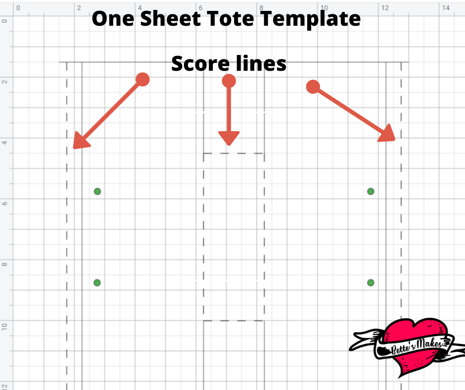 One Sheet Tote Scorelines from BettesMakes